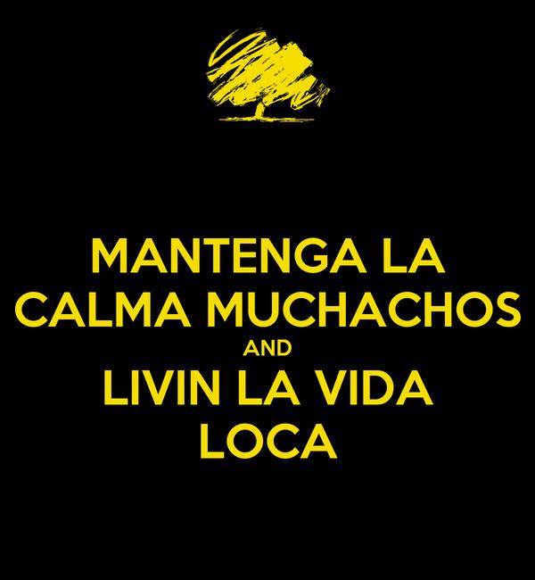 MANTENGA LA CALMA MUCHACHOS AND LIVIN LA VIDA LOCA