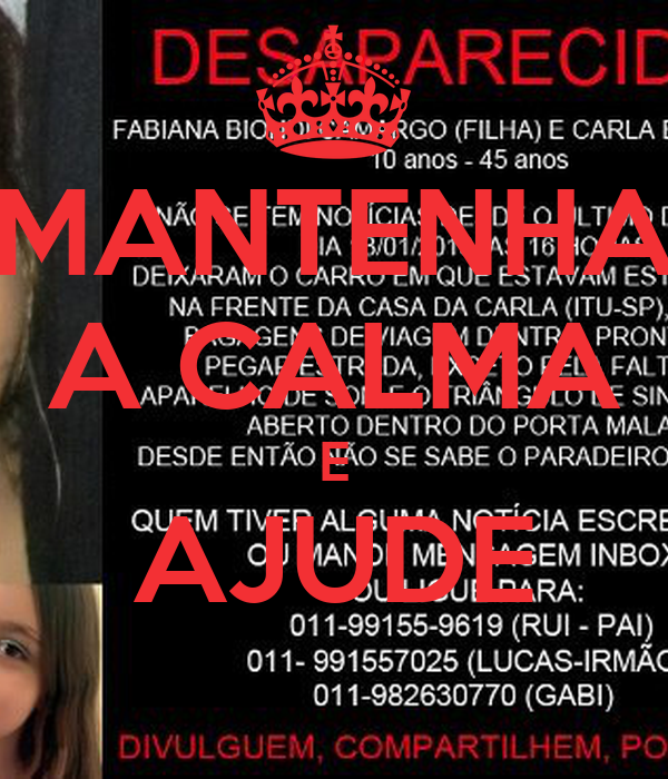 MANTENHA A CALMA E AJUDE