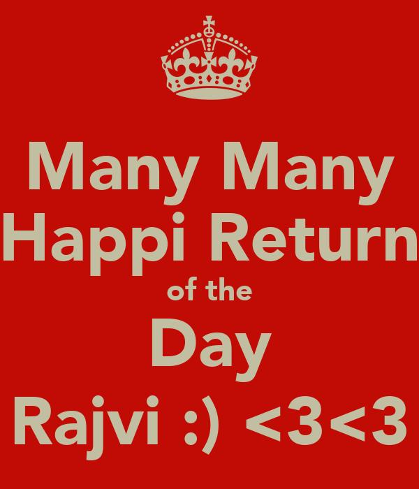 Many Many Happi Return of the Day Rajvi :) <3<3