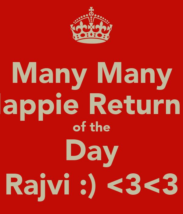 Many Many Happie Return's of the Day Rajvi :) <3<3