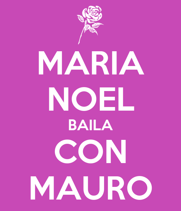 MARIA NOEL BAILA CON MAURO