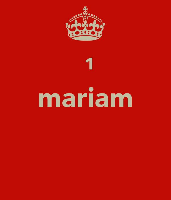 №¹ mariam