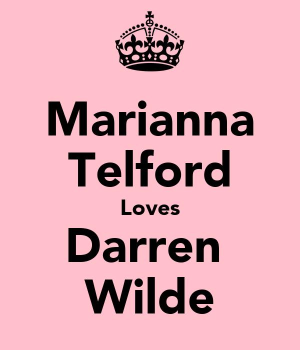 Marianna Telford Loves Darren  Wilde