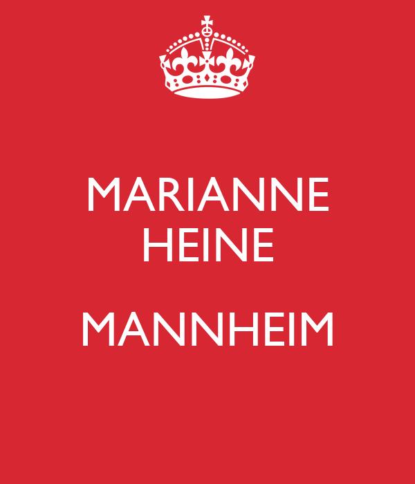 MARIANNE HEINE  MANNHEIM