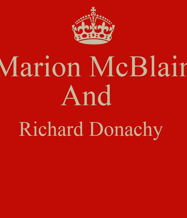 Marion McBlain And   Richard Donachy