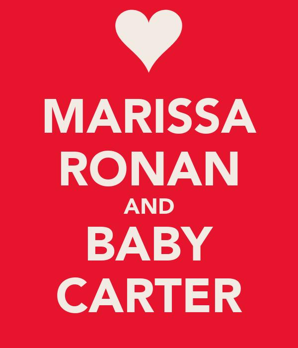 MARISSA RONAN AND BABY CARTER
