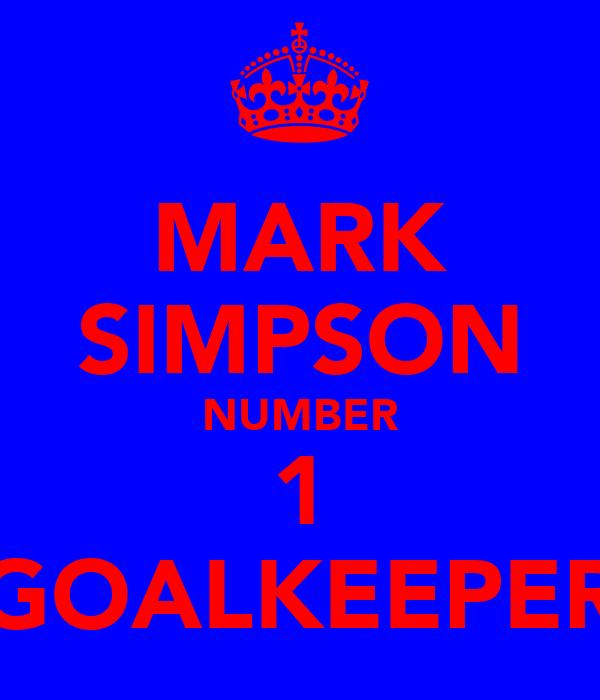 MARK SIMPSON NUMBER 1 GOALKEEPER