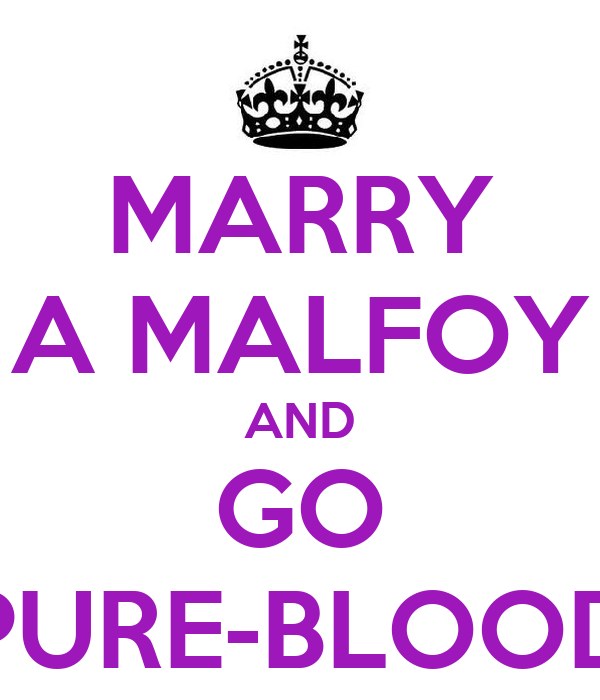 MARRY A MALFOY AND GO PURE-BLOOD