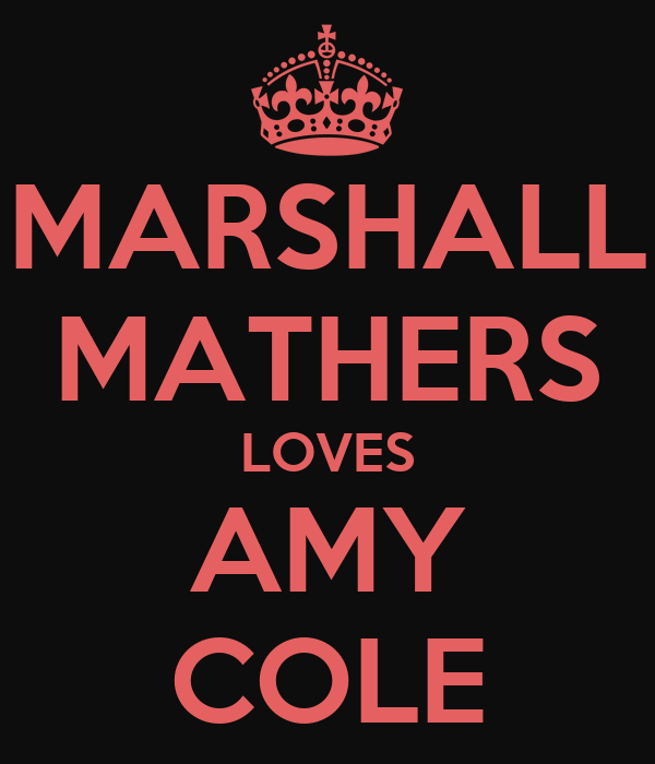 MARSHALL MATHERS LOVES AMY COLE