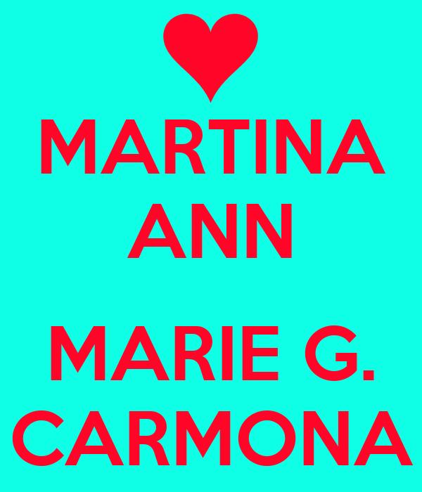 MARTINA ANN  MARIE G. CARMONA