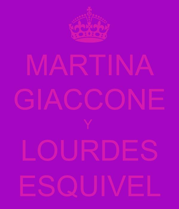 MARTINA GIACCONE Y  LOURDES ESQUIVEL