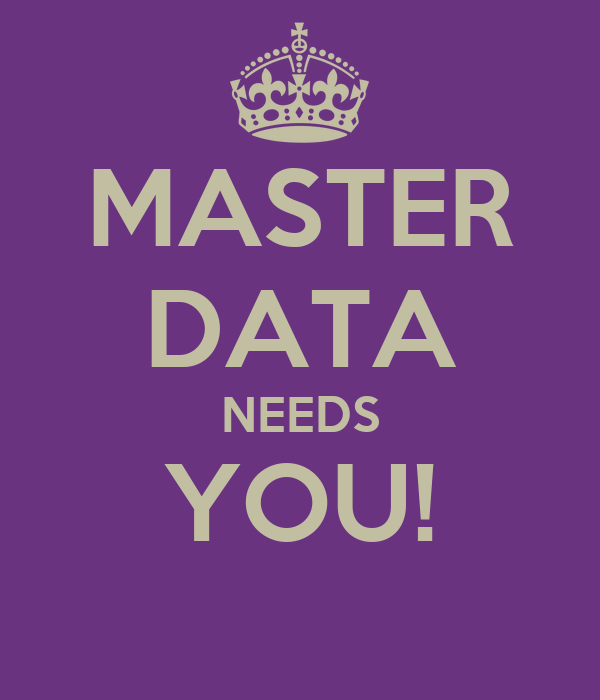 MASTER DATA NEEDS YOU!