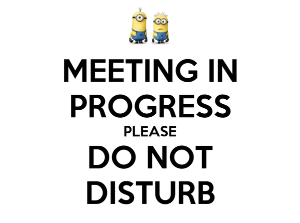 MEETING IN PROGRESS PLEASE DO NOT DISTURB