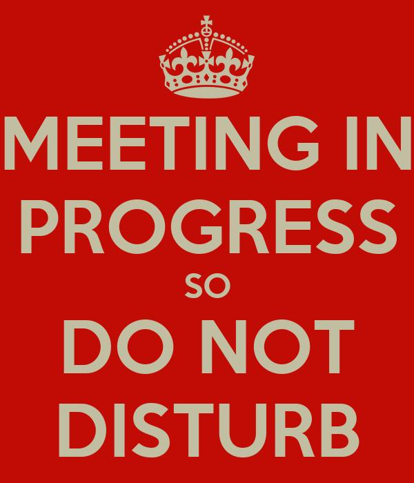 MEETING IN PROGRESS SO DO NOT DISTURB