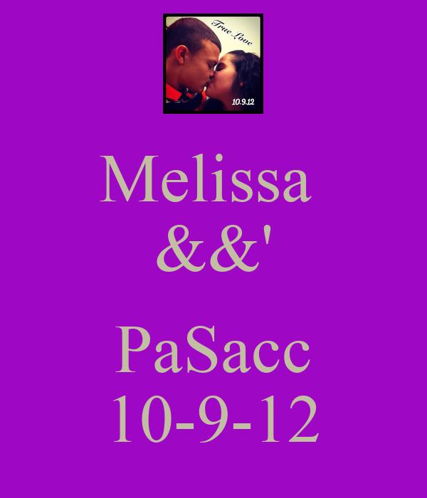 Melissa  &&'  PaSacc 10-9-12