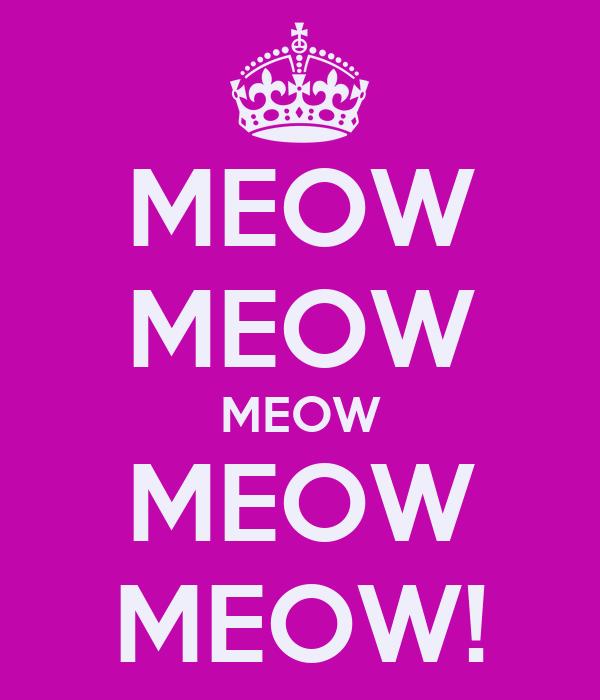 MEOW MEOW MEOW MEOW MEOW!