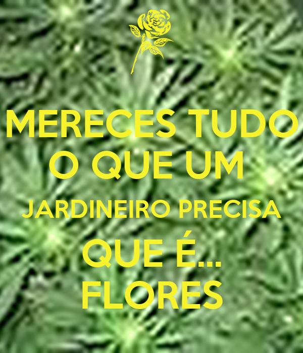 MERECES TUDO O QUE UM  JARDINEIRO PRECISA QUE É... FLORES