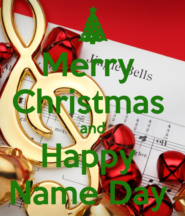 merry christmas and happy name day poster keep calm o matic