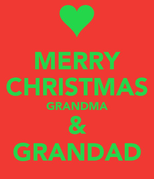 MERRY CHRISTMAS GRANDMA & GRANDAD