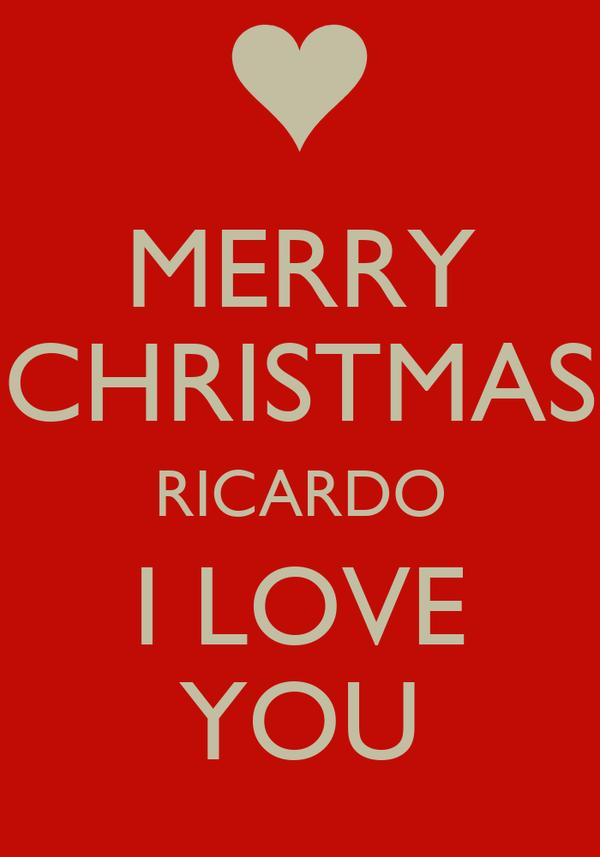 MERRY CHRISTMAS RICARDO I LOVE YOU Poster | Jools | Keep Calm-o-Matic