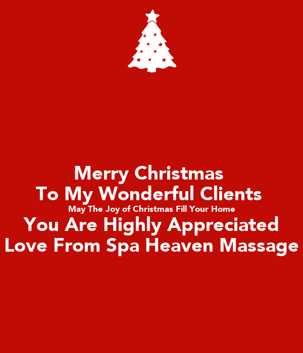 Merry Christmas To My Wonderful Clients May The Joy of Christmas ...