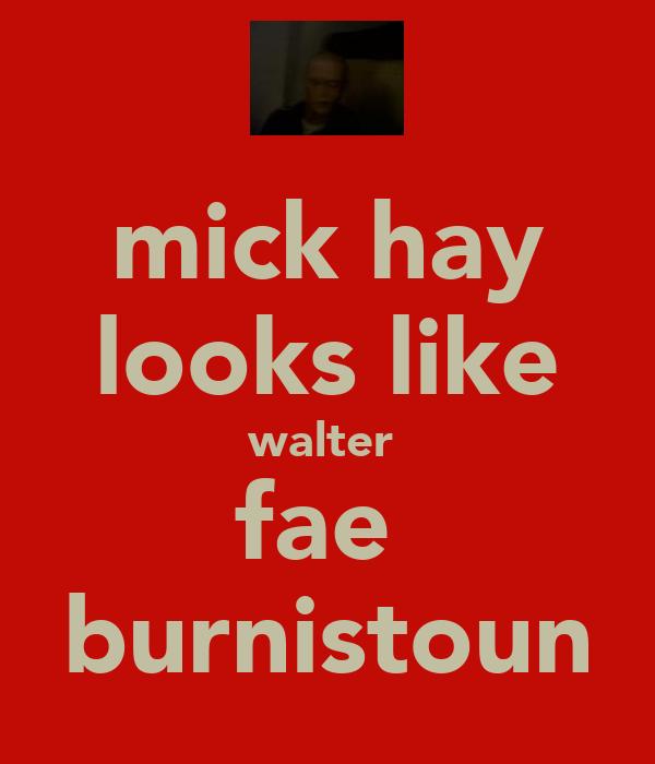 mick hay looks like walter  fae  burnistoun