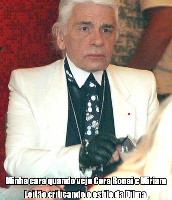 Minha cara quando vejo Cora Ronai e Miriam Leitão criticando o estilo da Dilma.