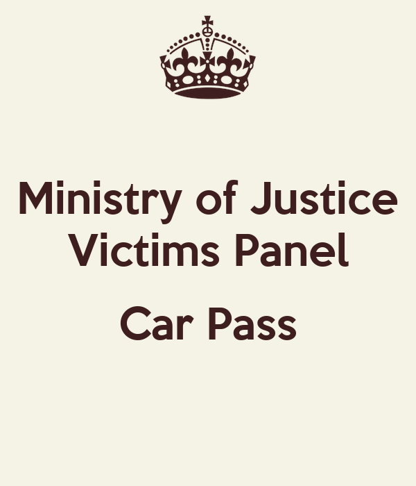 Ministry of Justice Victims Panel  Car Pass