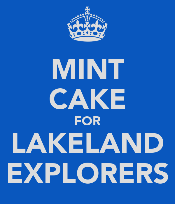 MINT CAKE FOR LAKELAND EXPLORERS