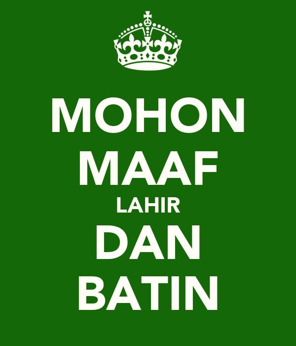 MOHON MAAF LAHIR DAN BATIN