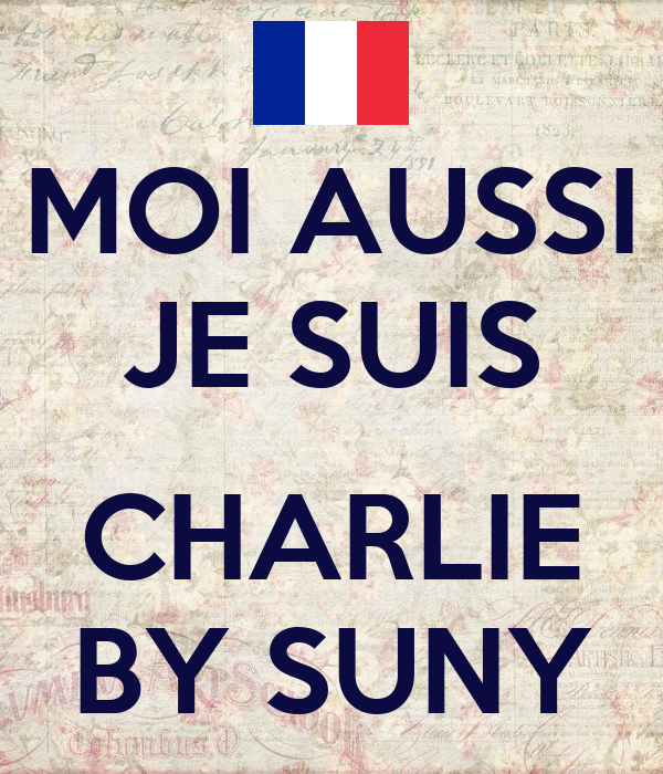 MOI AUSSI JE SUIS  CHARLIE BY SUNY