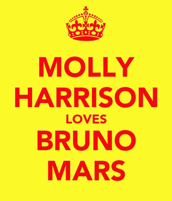 MOLLY HARRISON LOVES BRUNO MARS
