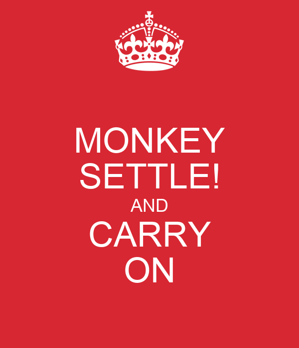 MONKEY SETTLE! AND CARRY ON