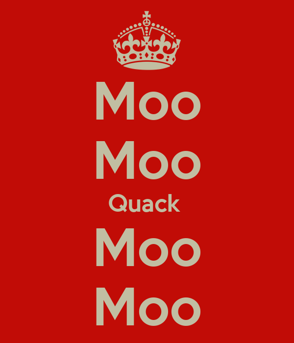 Moo Moo Quack  Moo Moo