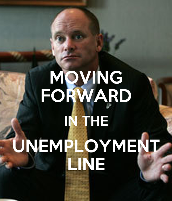 MOVING FORWARD IN THE UNEMPLOYMENT LINE