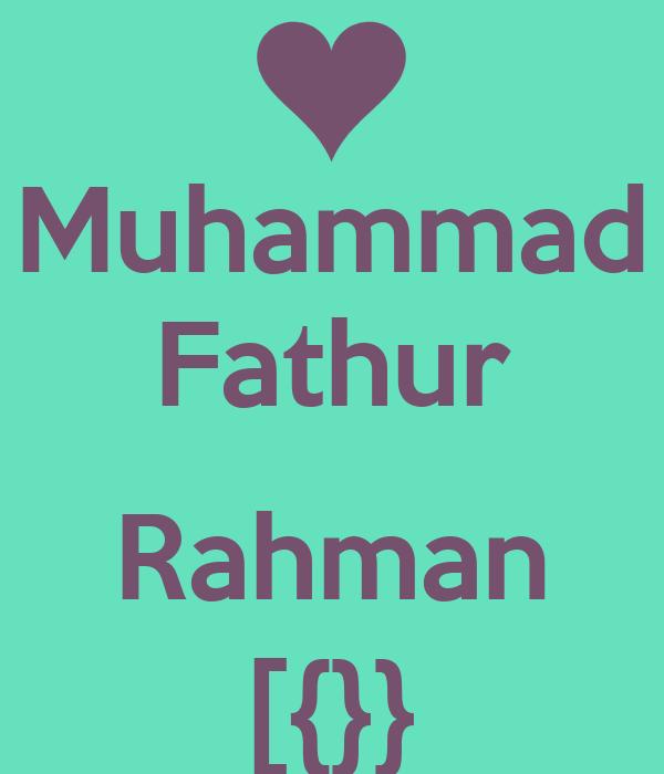 Muhammad Fathur  Rahman [{}}
