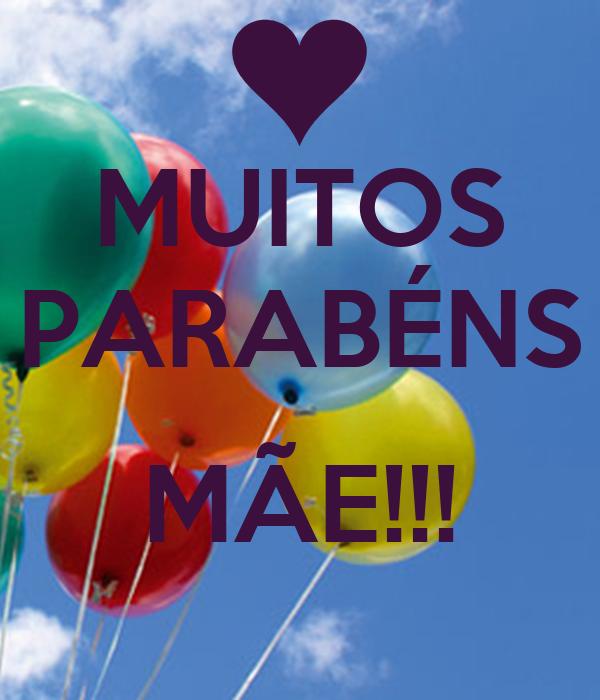 MUITOS PARABÉNS  MÃE!!!
