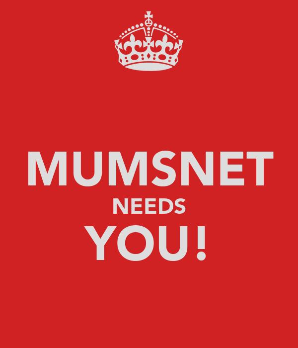 MUMSNET NEEDS YOU!