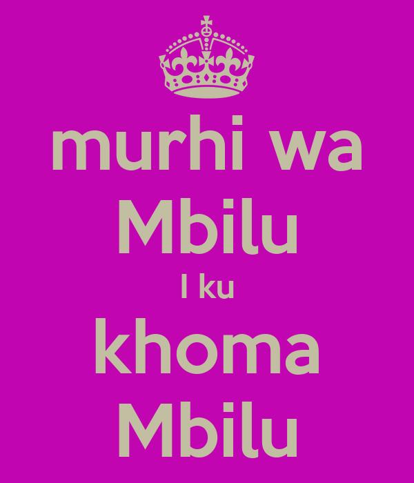 murhi wa Mbilu I ku khoma Mbilu