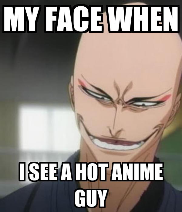 Anime man face meme
