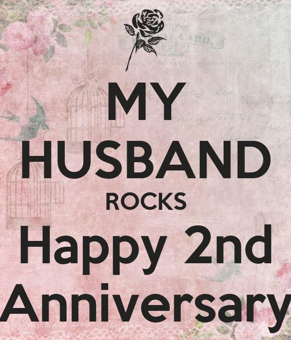 MY HUSBAND ROCKS Happy 2nd Anniversary Poster