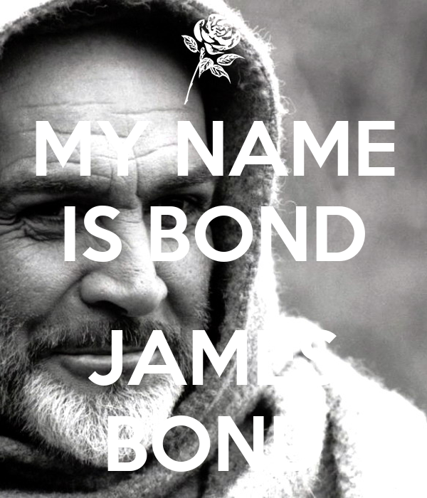 My name is bond james bond poster 1956 keep calm o matic - My name is bond james bond ...