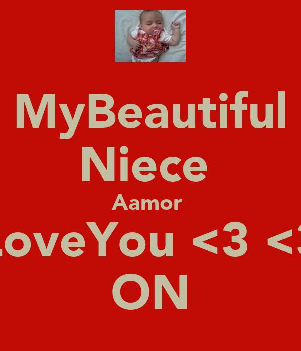 MyBeautiful Niece  Aamor  ILoveYou <3 <3  ON