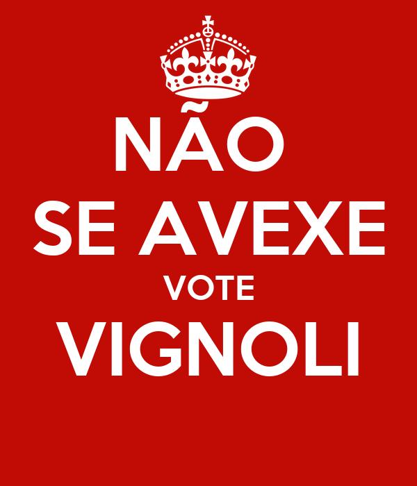 NÃO  SE AVEXE VOTE VIGNOLI