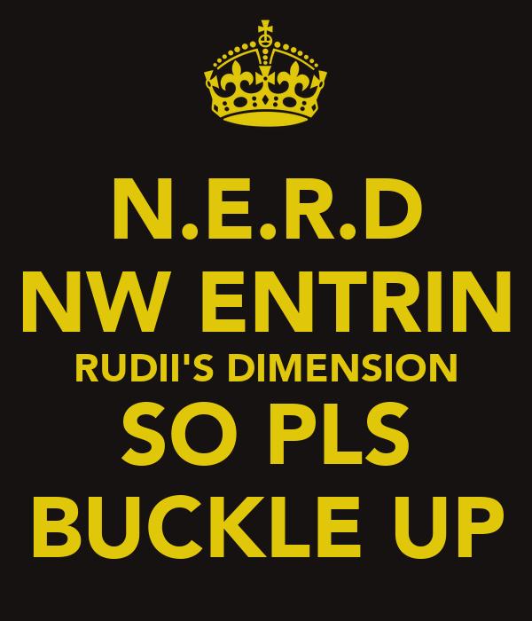 N.E.R.D NW ENTRIN RUDII'S DIMENSION SO PLS BUCKLE UP