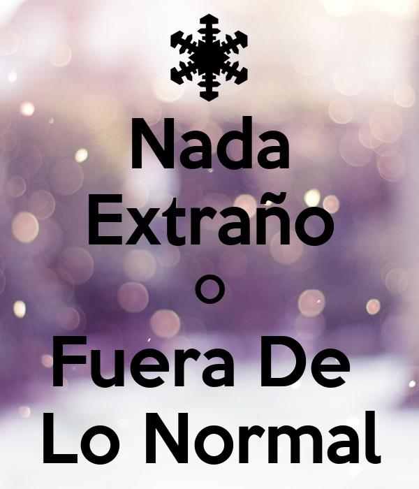 nada extra o o fuera de lo normal poster keep calm