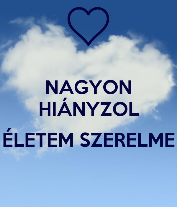 NAGYON HIÁNYZOL  ÉLETEM SZERELME