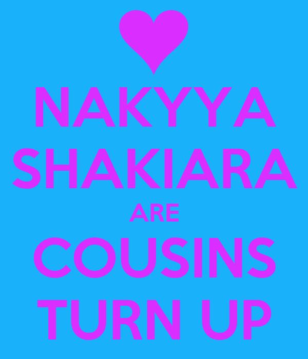 NAKYYA SHAKIARA ARE COUSINS TURN UP
