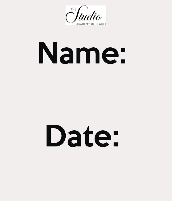 Name:    Date: