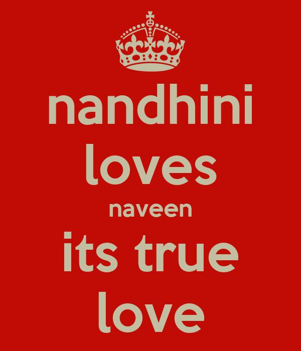 nandhini loves naveen its true love